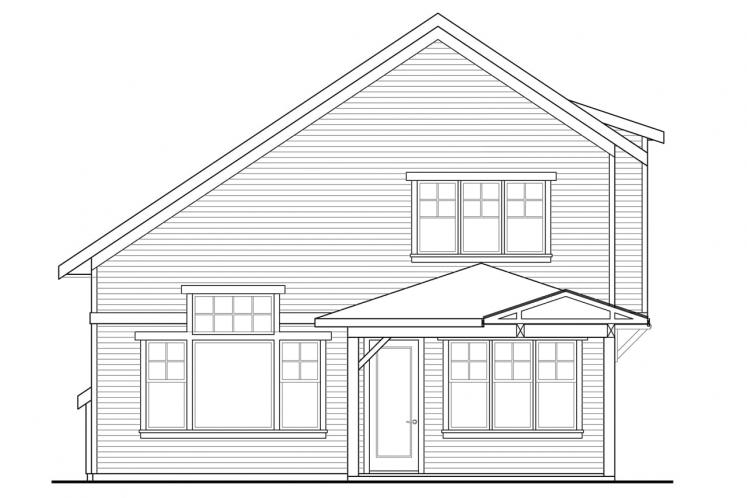 Cottage House Plan - Carthage 55792 - Rear Exterior