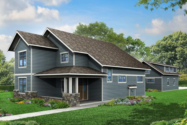 Bungalow House Plan - Carthage 55792 - Front Exterior