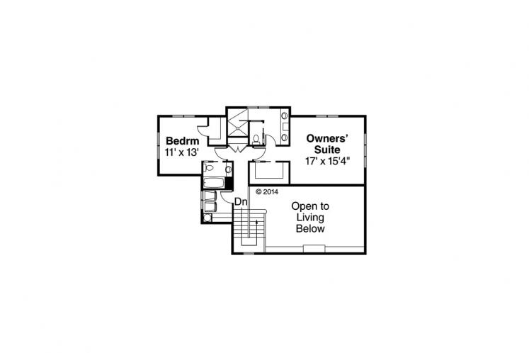 Bungalow House Plan - Carthage 55792 - 2nd Floor Plan