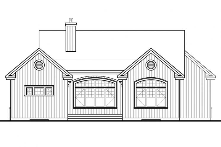 Country House Plan - Oakdale 3 55821 - Rear Exterior