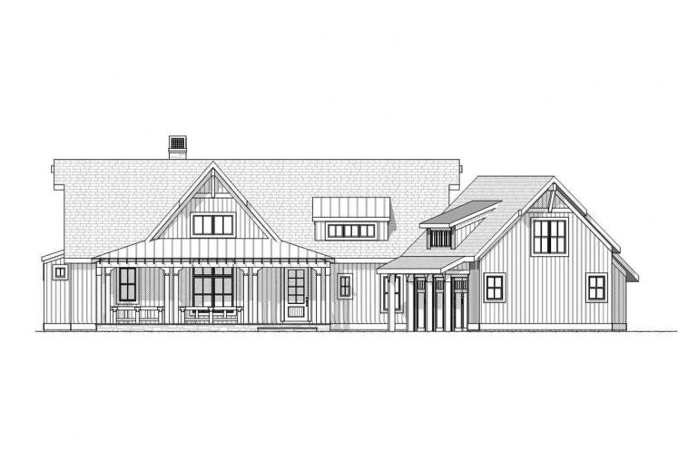 Craftsman House Plan - Crosswinds 55874 - Front Exterior
