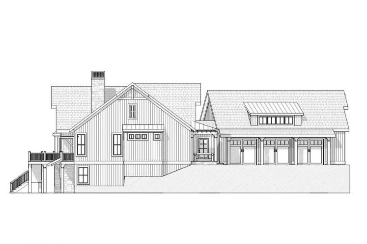 Cottage House Plan - Crosswinds 55874 - Left Exterior