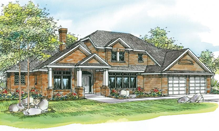 Southern House Plan - Ainsworth 55903 - Front Exterior