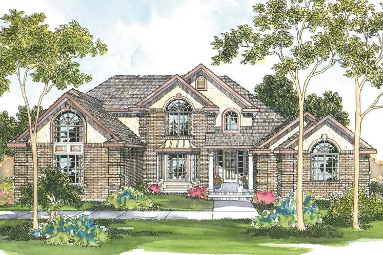 Classic House Plan - Centralia 55942 - Front Exterior