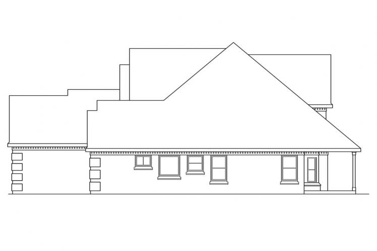 Classic House Plan - Centralia 55942 - Right Exterior
