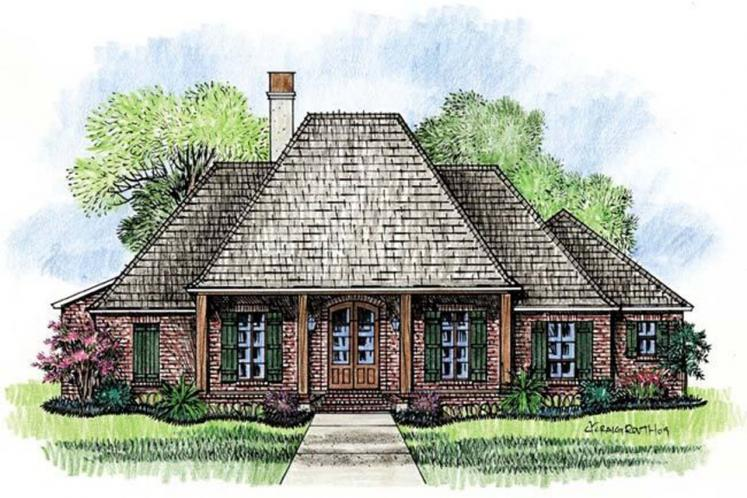 Classic House Plan - Beechwood 56017 - Front Exterior