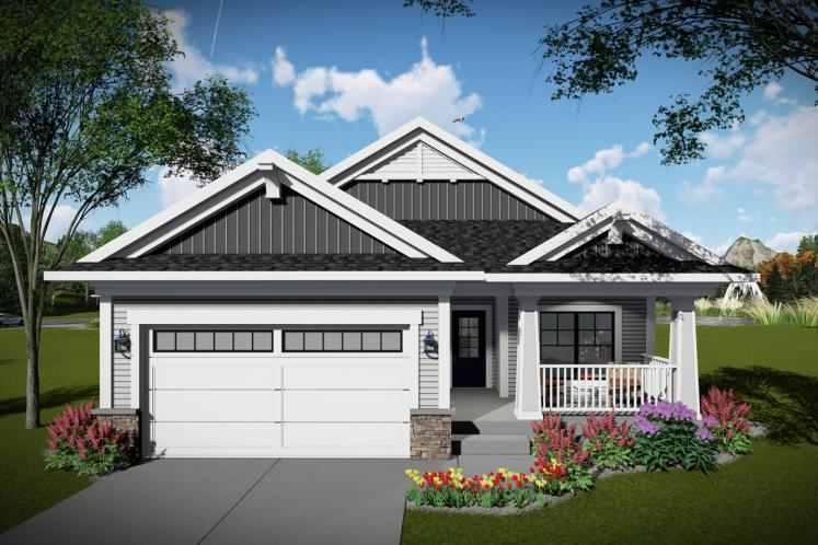 Traditional House Plan -  56082 - Front Exterior
