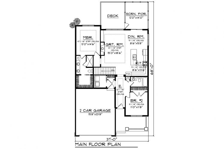 Traditional House Plan -  56082 - 1st Floor Plan