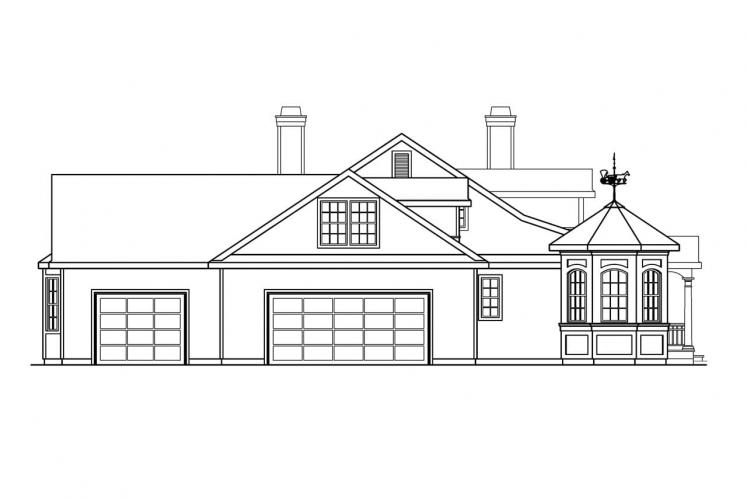 Southern House Plan - Louisville 56151 - Left Exterior
