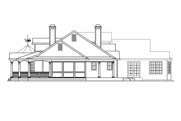 Country House Plan - Louisville 56151 - Right Exterior