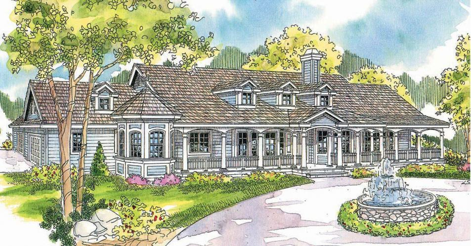 Country House Plan - Louisville 56151 - Front Exterior