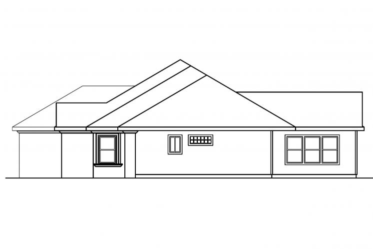 Tuscan House Plan - Brittany 56158 - Right Exterior