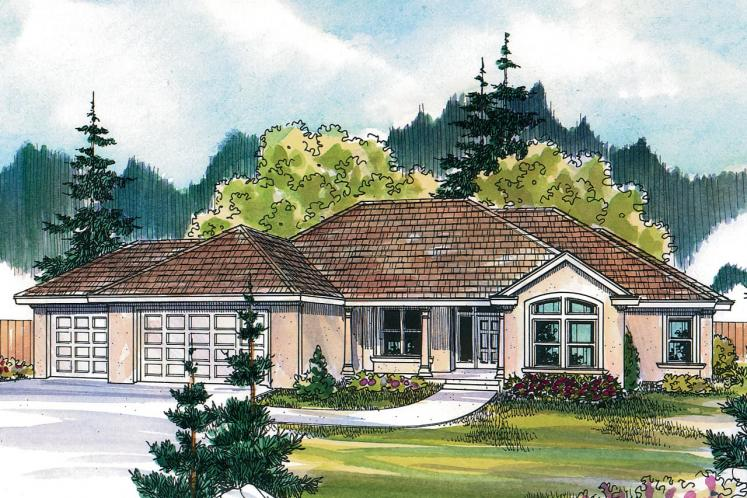 Tuscan House Plan - Brittany 56158 - Front Exterior