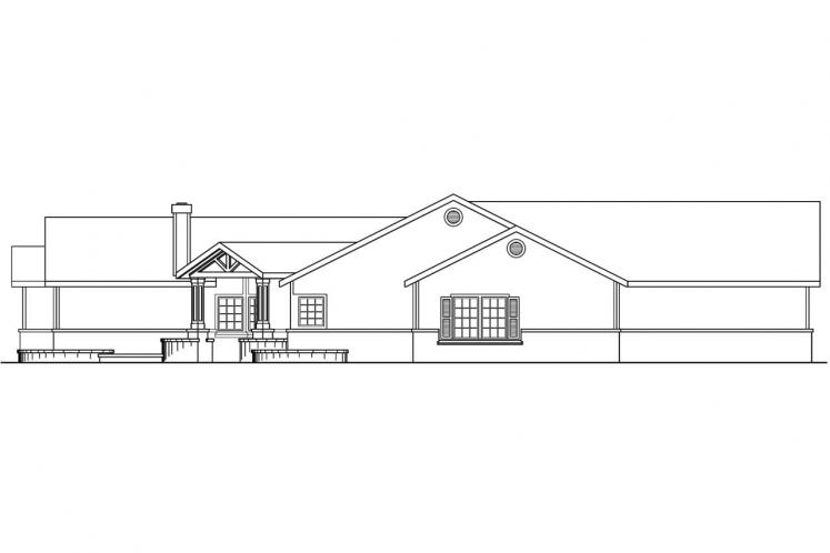 Traditional House Plan - Williston 56181 - Left Exterior