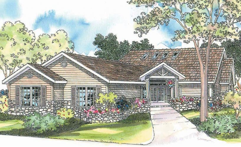 Ranch House Plan - Williston 56181 - Front Exterior