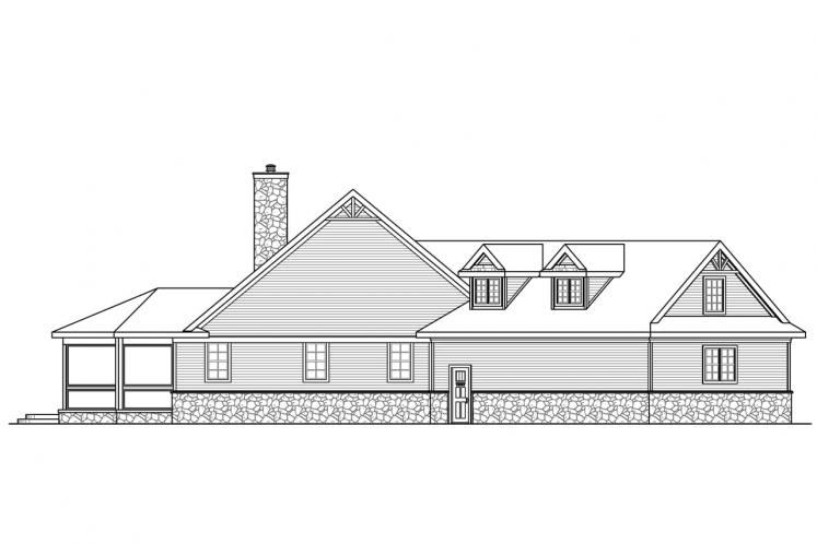 Country House Plan - Napa 56214 - Left Exterior