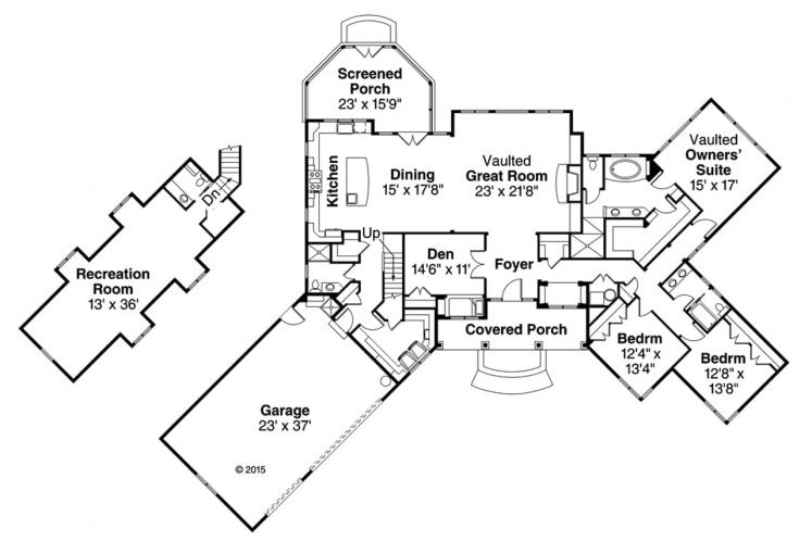 Country House Plan - Napa 56214 - 1st Floor Plan
