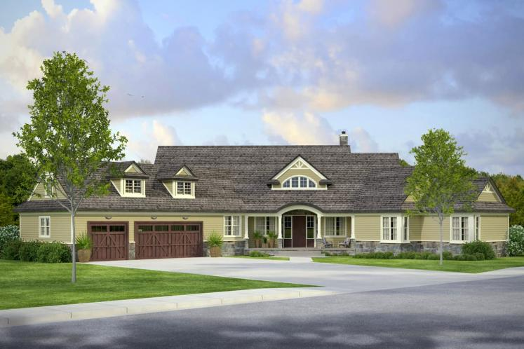 Country House Plan - Napa 56214 - Front Exterior