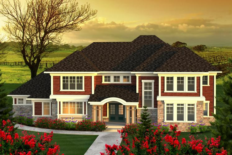 Classic House Plan -  56326 - Front Exterior
