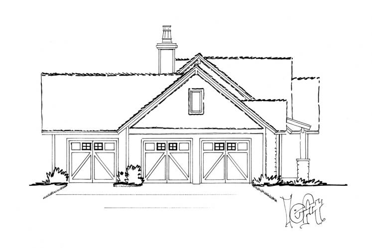 Traditional House Plan - Dove Creek 56345 - Left Exterior