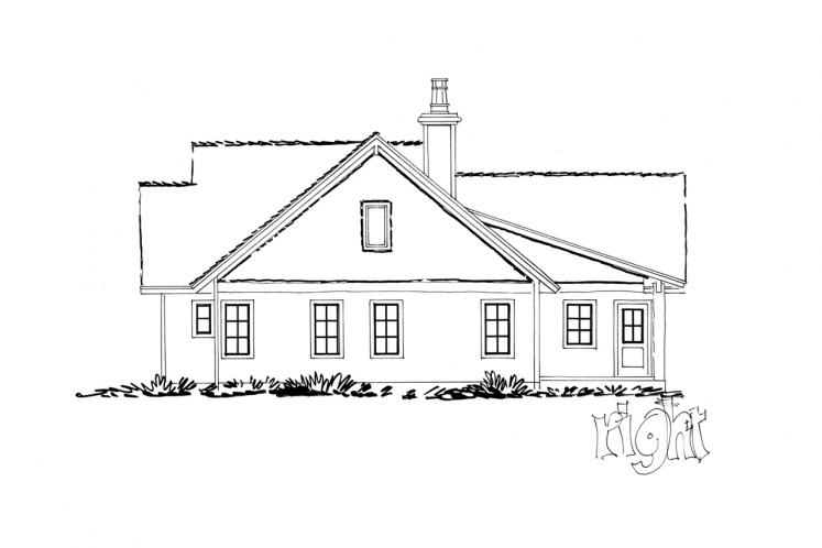 Farmhouse House Plan - Dove Creek 56345 - Right Exterior