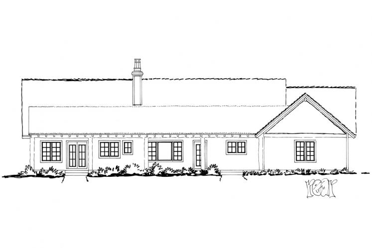 Ranch House Plan - Dove Creek 56345 - Rear Exterior