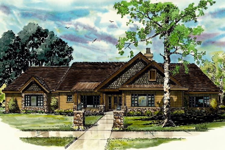 Farmhouse House Plan - Dove Creek 56345 - Front Exterior