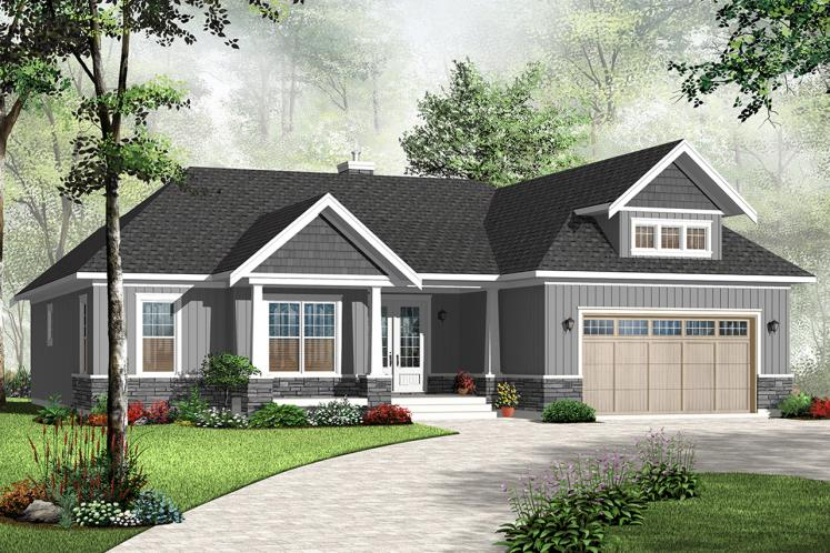 Country House Plan - Oakdale 2 56402 - Front Exterior