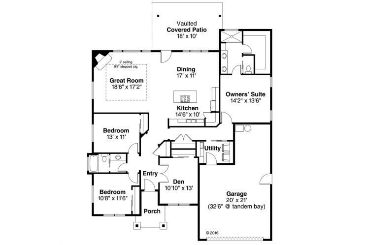 Cottage House Plan - Northampton 56440 - 1st Floor Plan