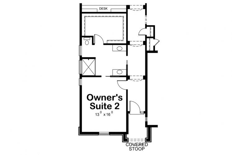 European House Plan - Wilmert Gable 56543 - Optional Floor Plan