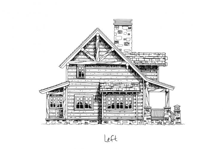Country House Plan - Laramie 56656 - Left Exterior