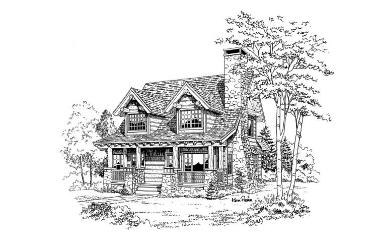 Lodge Style House Plan - Laramie 56656 - Front Exterior