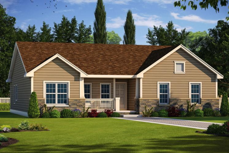 Traditional House Plan - Brisson 56673 - Front Exterior