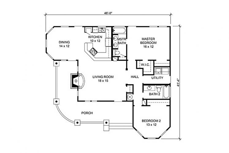 Country House Plan - Aquila 56805 - 1st Floor Plan
