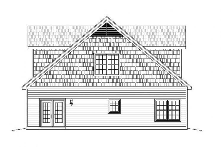 Country Garage Plan - Legard Farms 56974 - Right Exterior