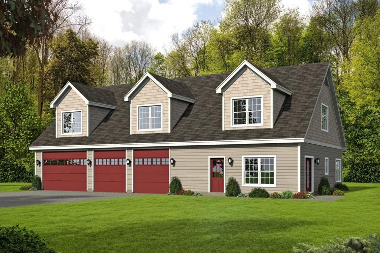 Traditional Garage Plan - Legard Farms 56974 - Front Exterior