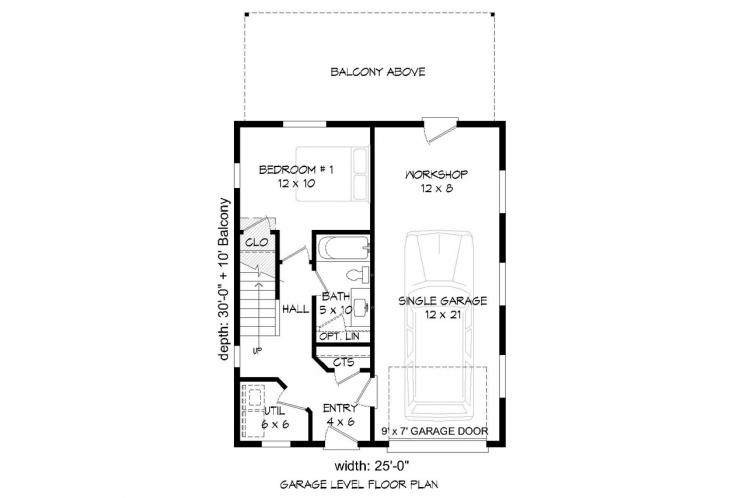 Cottage House Plan - Penton Place 56977 - 1st Floor Plan