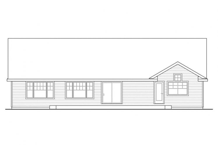 Country House Plan - Fern View 56988 - Rear Exterior