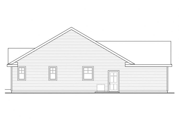 Traditional House Plan - Fern View 56988 - Left Exterior