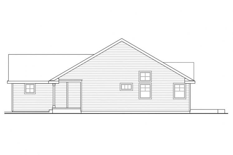 Ranch House Plan - Fern View 56988 - Right Exterior