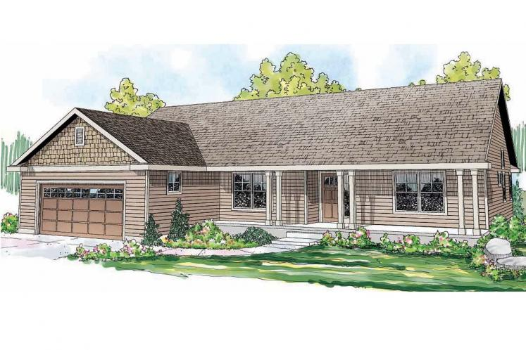 Ranch House Plan - Fern View 56988 - Front Exterior