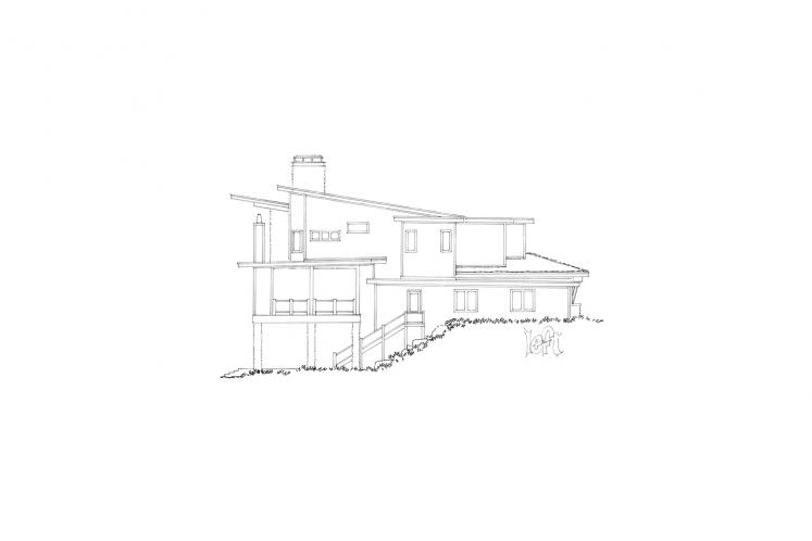 Modern House Plan - Aurora 57029 - Left Exterior