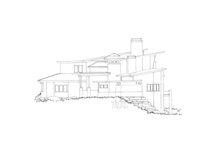 Contemporary House Plan - Aurora 57029 - Right Exterior