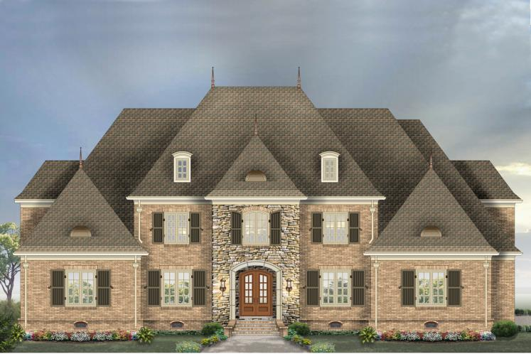 European House Plan -  57038 - Front Exterior