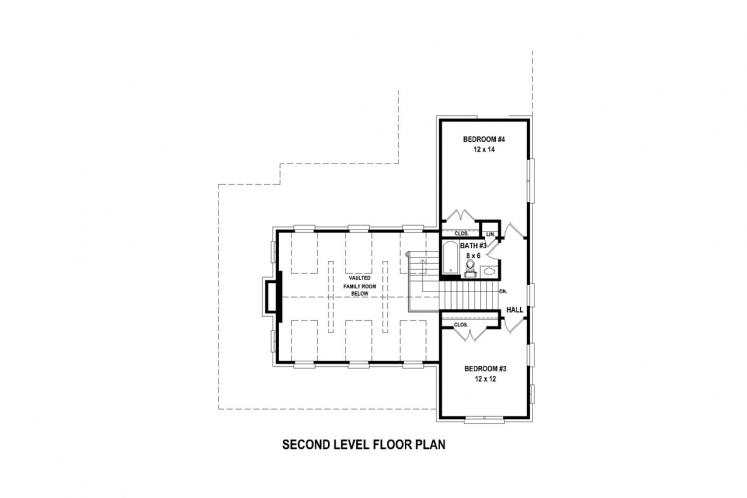 Country House Plan -  57064 - 2nd Floor Plan