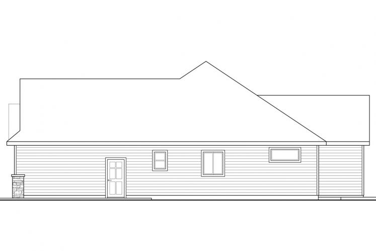 Ranch House Plan - Barrington 57077 - Right Exterior