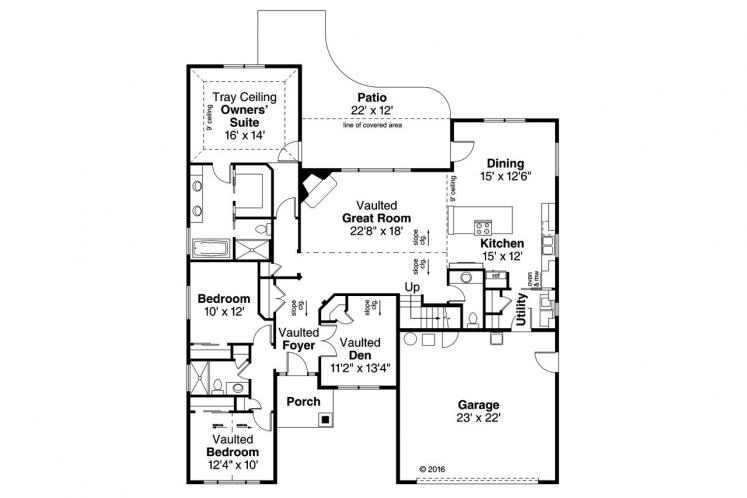 Country House Plan - Barrington 57077 - 1st Floor Plan