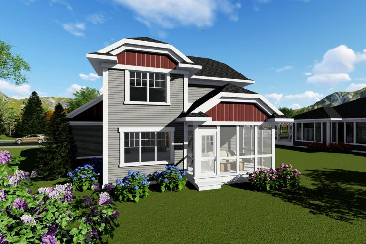 Bungalow House Plan -  57111 - Rear Exterior