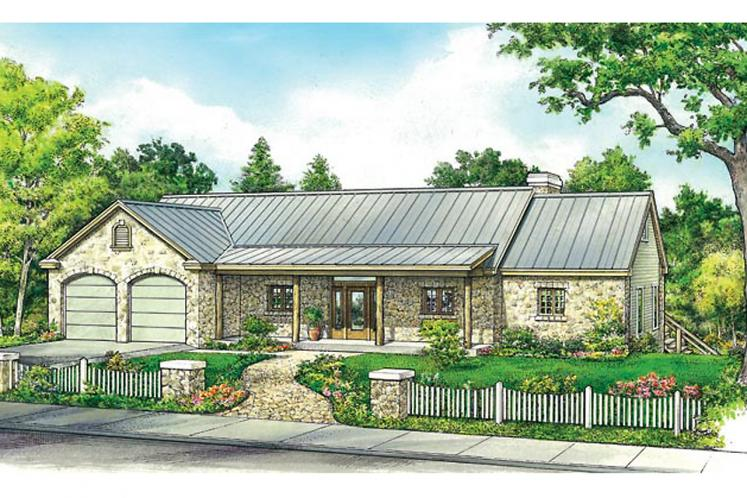 Ranch House Plan - Milton 57134 - Front Exterior