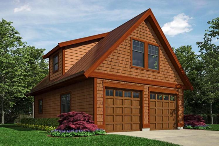 Traditional Garage Plan -  57159 - Front Exterior